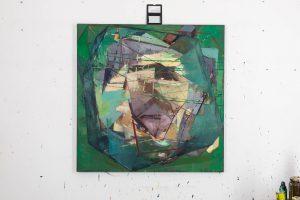Potentialbarriere, Eggtempera/Oil, 120 x120 cm, 2015 (final version)