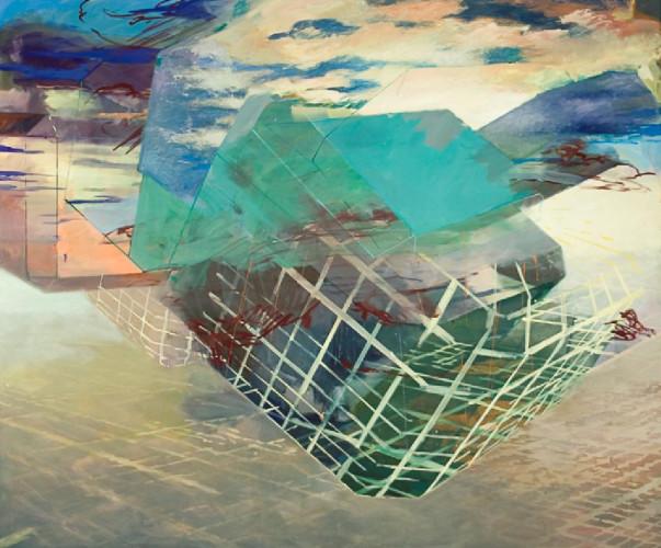 Christoph Kern's NeXt, Eggtempera/Oil-Pigments on canvas, 2014. | Tela de Christoph Kern, 2015.