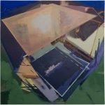Juno Base I, 80 x 80 cm, EggtemperaOil-Pigments, 2018 70 x 70 cm, 2018